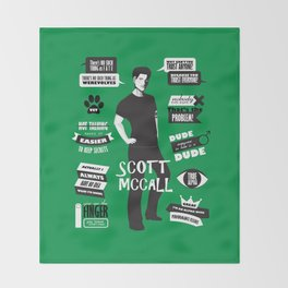 Scott Mccall Teen Wolf Quotes Throw Blanket