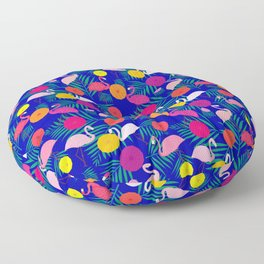 Chilling at the beach Floor Pillow