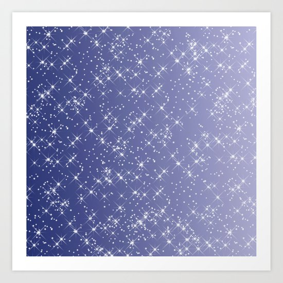 Purple Sparkle Art Print
