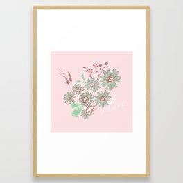 Greeting Petals Framed Art Print