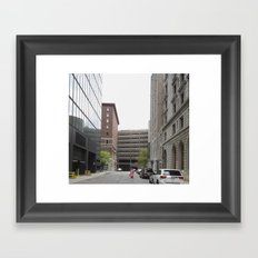 The Man in Pink Framed Art Print