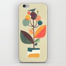 Potted plant with a bird iPhone & iPod Skin