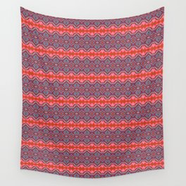 Summer splash - Coral and Blue Wall Tapestry