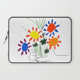Pablo Picasso Bouquet Of Peace 1958 (Flowers Bouquet With Hands), T Shirt, Artwork Laptop Sleeve