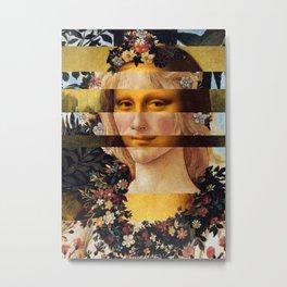 Leonardo's Mona Lisa & Botticelli's Flora Metal Print