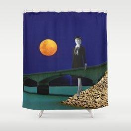 Bridge in Blue Shower Curtain