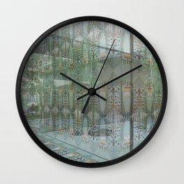 Wallpaper in a White Box Wall Clock