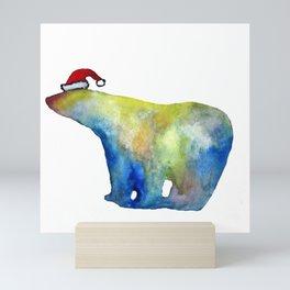 Bear Santa Mini Art Print