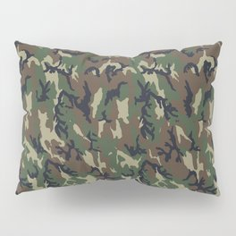 Woodland Forest Camouflage Pattern Pillow Sham