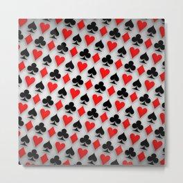Suit Spades Hearts Clubs Diamonds Background Metal Print