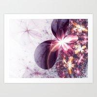 sparkles Art Prints featuring Sparkles by Keila Neokow