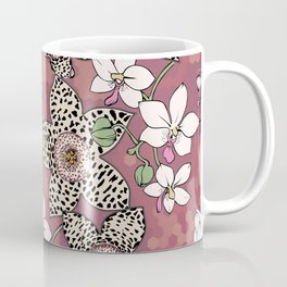 Spotted stapelia flowers and Orchid Coffee Mug