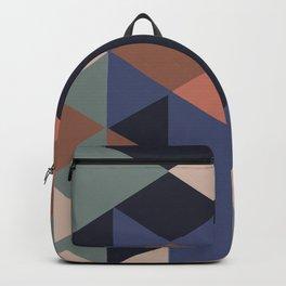 Geometry pyramid pattern Backpack