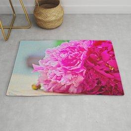 Pink peony beauty Rug