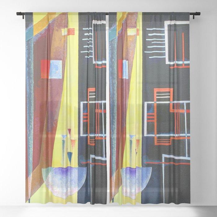 Wassily Kandinsky Inner Alliance Sheer Curtain