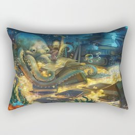 Librarian Octopus Rectangular Pillow