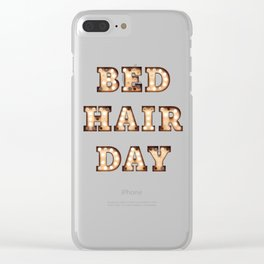 Bed Hair Day - Bulb Clear iPhone Case