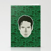 mulder Stationery Cards featuring Fox Mulder by Kuki
