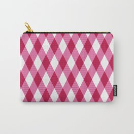 Pink rhombuses on white. Carry-All Pouch