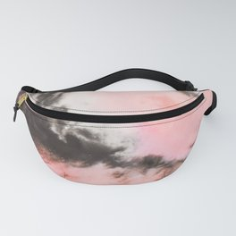 Pink and black marbled paper Fanny Pack