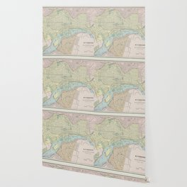 Vintage Map of Richmond VA (1901) Wallpaper