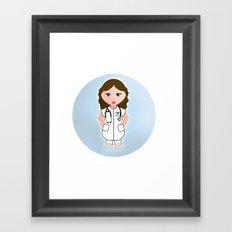 Job Series: the doctor Framed Art Print
