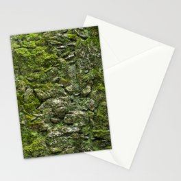 Green wall covered with moss and little plants Stationery Cards