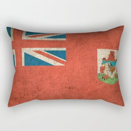 Old and Worn Distressed Vintage Flag of Bermuda Rectangular Pillow