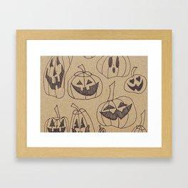 Pumpkin Jamboree Framed Art Print