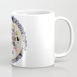 It's just a bunch of hocus pocus cross stitch hand embroidery hoop Coffee Mug