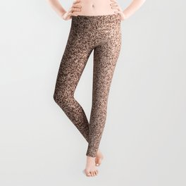 Modern Blush Pink Rose Gold Bronze Faux Glitter Leggings