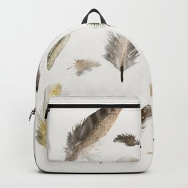 inner nature (feathers and leaves Backpack