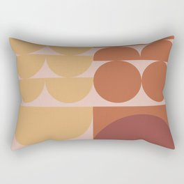 Pink & Brown Rectangular Pillow