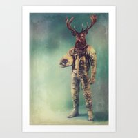 deer Art Prints featuring Without Words by rubbishmonkey