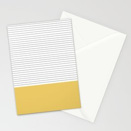 Minimal Gray Stripes - yellow Stationery Cards