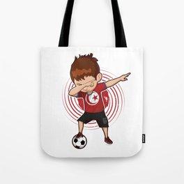Football Dab Tunisia Tunisian Footballer Dabbing Rugby Goal Soccer Gift Tote Bag