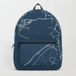 Guilin Blueprint Street Map, Guilin Colour Map Prints Backpack