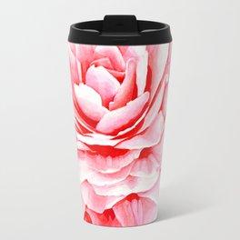 Watercolor Pink Camellia Travel Mug