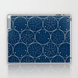 Sanddollar Pattern in Blue Laptop & iPad Skin