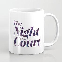 The Night Court Galaxy Design White Coffee Mug