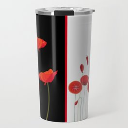 Flaming Poppies Travel Mug