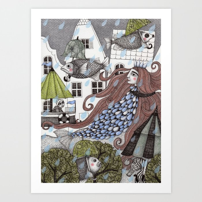 Rainy Days Art Print