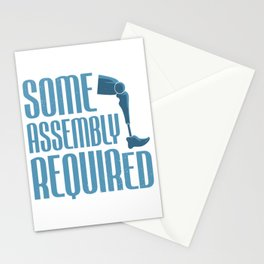 Leg Amputee Amputated Some Assembly Required Gift Stationery Cards