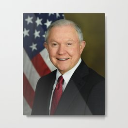 Jeff Sessions Portrait Metal Print