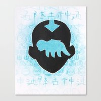 the last airbender Canvas Prints featuring The Last Airbender by Carmen McCormick
