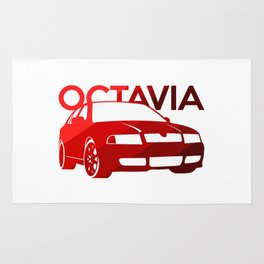 Skoda Octavia - classic red - Rug
