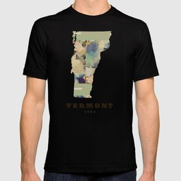 Vermont state map T-shirt