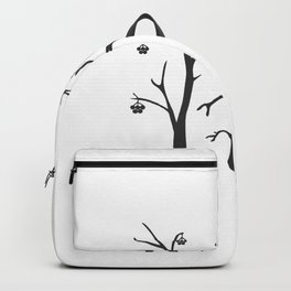 Silhouette of a rowan tree with berries Backpack