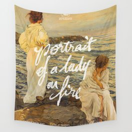 portrait of a lady on fire sunset Wall Tapestry