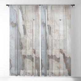 Bark Of A Eucalyptus Tree Sheer Curtain